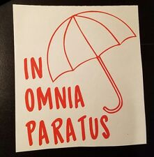 In Omnia Paratus with Umbrella Decal Window/Car ***AVAILABLE 20 COLORS***