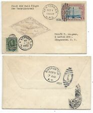 DUAL FRANKING-First Flight Cover-NEW YORK, NY to MONTREAL, QC on OCT 1, 1928