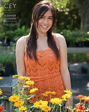 NEW! CLASSIC ELITE SUMMER FLOWERS KNITTING PATTERN BOOK 5 GORGEOUS DESIGNS