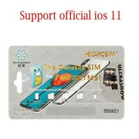 New 4G Unlock GPP Turbo Sim Card for iPhone X 8 7 6S 6 Plus 5S 5 iOS 11.3.1 USA