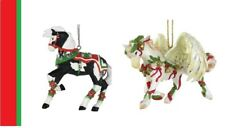 PAINTED PONIES - 2019 Christmas Ornaments Set of 2 - GLORIA & JINGLE ALL THE WAY