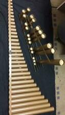 Percussion Source Resonators for 4.3 Octave Marimba Gold Matte Finish Pipes Only