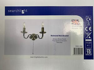 SEARCHLIGHT 1502-2AB Richmond 2 Light Wall Bracket in Antique Brass Finish