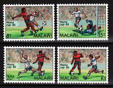 COUPE DU MONDE MEXICO SOCCER FOOTBALL JEU DE 4 MNH timbres 1985 Malawi #482-5