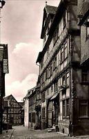 Alsfeld Hessen s/w Postkarte ~1950/60 Rittergasse mit Neurath Haus Fachwerkhaus
