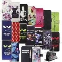Schutz Hülle für Handy Huawei Honor 8 Motive Tasche Cover Wallet Handyhülle Neu