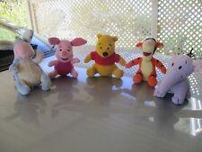 Disney Winnie the Pooh & Friends,Pooh,Piglet,Tigger,Eeyore & Huffalump Plushes