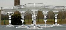 Baccarat - Service de 6 coupes à champagne en cristal gravé, monogrammé CP? XIXe
