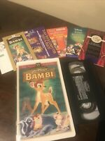 Bambi VHS 55th Anniversary Limited Edition RARE Masterpiece Collection W Stamp