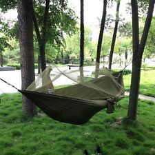 Army Green Travel Outdoor Camping Hammock Hanging Tent Sleeping Bed Parachute