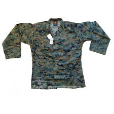 Small Short USMC Woodland Marpat utilities used MCCUU cammie Blouse Shirt SS