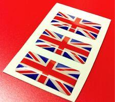 3 Adesivi Resinati 3D Bandiera INGHILTERRA Union Jack