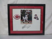 Ken Griffey Jr Signed Cincinnati Reds White Matt Board Framed Upper Deck UDA