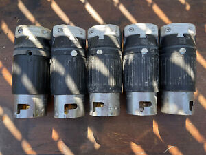 Lot of 5 Hubbell 50 amp Twist Lock Connectors 3P-4W 480V