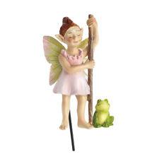 Flossy Swamp Fairy n' Froggie Stake GO 17684  Miniature Fairy Garden