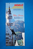 World Airways System Timetable  - Jan 15, 1985