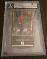 TIGER WOODS 1997-98 GRAND SLAM VENTURES (GOLD FOIL) ROOKIE BGS 8.5 NM-MT+