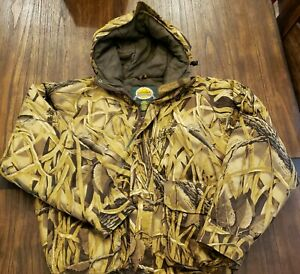 Cabelas Insulated Duck Hunting Coat - Advantage Wetlands Camo LG