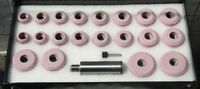 VALVE SEAT GRINDING STONES SET OF 20 PCS PINK WITH SIOUX HOLDER @g