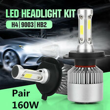 Car LED H4 9003 HB2 Hi/Lo Dual Bulb Fog Driving Headlight Kit 160W 16000LM 6000K