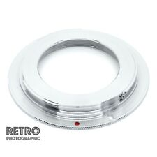M42-EF M42 Screw Fit Lens to Canon EF EOS Mount Brass Adapter Ring - With Flange