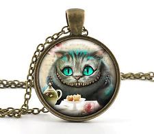Vintage Alice au Pays des Merveilles Collier - Chat de Cheshire Bijouterie -