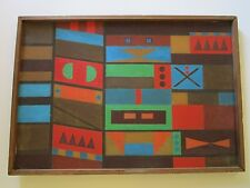 MID CENTURY ABSTRACT EXPRESSIONISM GEOMETRIC MODERNISM VINTAGE INDIAN LANDSCAPE