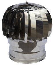 Cappello per camino aspiratore fumi EOLICO inox 430 base circolare diam cm.12