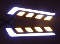 2pcs Waterproof 12V LED Fog Light COB Car Auto DRL Driving Daytime Running Lamp