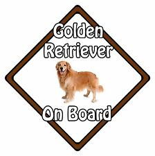 Non Personalised Dog On Board Car Safety Sign - Golden Retriever On Board