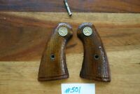 Colt Police Positive Wood Grips Gold Medallion Type Good Shape Detective Special