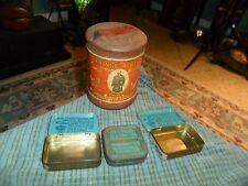 Vintage PRINCE ALBERT CRIMP CUT Pipe & Cigarette Tobacco Tin + 3 Small Tins Lot