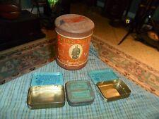 Vintage PRINCE ALBERT CRIMP CUT Pipe & Cigarette Tobacco Tin + 3 Small Tins Lot
