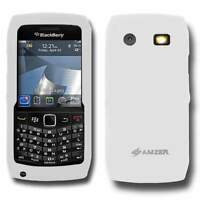 AMZER Lilly White Silicone Skin Case Cover for Blackberry Pearl 9105/9100