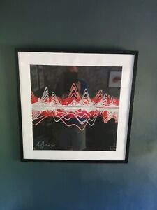 Kylie Minogue Signed Soundwaves Art Canvas by Tim Wakefield