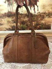 COACH Vintage British Tan Leather Speedy Doctor Bag Satchel Made USA