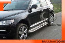 VOLKSWAGEN TOUAREG 2007-2009 MARCHE-PIEDS INOX PLAT / PROTECTIONS LATERALES