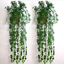 Hot 9.75ft Plant Garland Ivy Decor Plastic Green Home Foliage Flower Leaf
