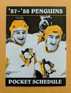 1987-1988 Pittsburgh Penguins Hockey Schedule NHL KDKA Radio 🥅🏒