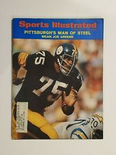 1971 Sports Illustrated Mean Joe Greene Pittsburgh Steelers vs Chargers