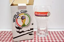 """Budweiser 2006 FIFA World Cup Football Soccer Beer Glass New in Box 6 1/2"""""""