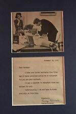 JOHN F. KENNEDY'S PERSONAL SECRETARY EVELYN LINCOLN AUTHENTIC SIGNATURE RARE