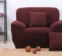 EASY STRETCH ELASTIC FIT FABRIC SOFA / SETTEE SLIP COVER -  1 Seater
