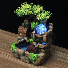 Zimmerbrunnen Gartenbrunnen Landschaft Grüne Pflanze Springbrunnen LED-Licht DHL