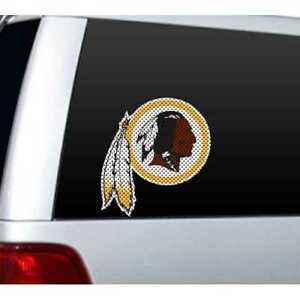 "*BIG* 12"" WASHINGTON REDSKINS CAR/HOME  WINDOW FILM DECAL NFL FOOTBALL"