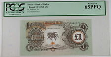 (1968-69) Bank of Biafra 1 Pound Note SCWPM# 5a PCGS 65 PPQ Gem New