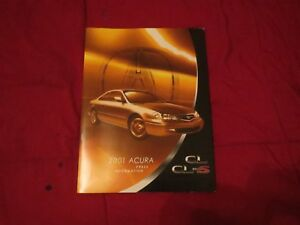 2001 ACURA CL AND CL TYPE S MODEL INTRODUCTION PRESS RELEASE KIT BROCHURE W SLID