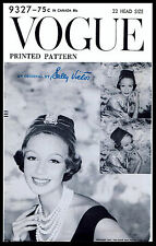 Millinery HAT Designer Sally Victor Vintage 50s VOGUE Fabric Pattern Sewing 9327