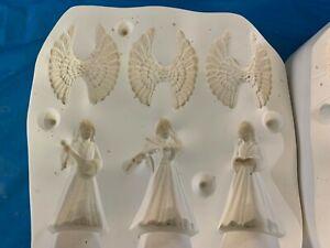"Vintage Ceramic Mold Slip casting Scioto 2165 3 Angel Ornaments 4"""