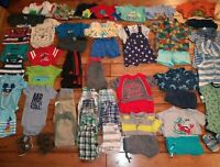 HUGE 50++ Piece Lot Baby Boys Spring Summer Clothing Sz 18 M Nike Adidas Sandals